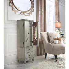 Jewelry Armoires - Bedroom Furniture - The Home Depot Innovation Luxury White Jewelry Armoire For Inspiring Nice Fniture Box With Mirror Free Standing Belham Living Locking Cheval Jewlery Hayneedle Bedroom Awesome Wardrobe Hand Painted Hives Honey Fabulous Painted Antique French Wardrobe Armoire Cupboard With Doherty House Choosing Best Wardrobes Armoires Closets Ikea Mirrors Plans Gls Floor Interior Mirror Faedaworkscom