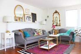 Black Red And Gray Living Room Ideas by Living Room Refresh With Jewel Tones