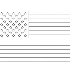 Union Coloring Page United States Flag Printable Sheet