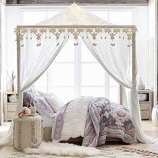 Twin Metal Canopy Bed White With Curtains by Beds With Canopies Tinderboozt Com