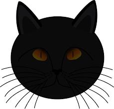 Clipart Black Cat Face