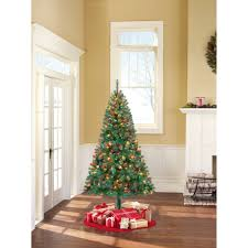 Holiday Time Pre Lit 65 Madison Pine Green Artificial Christmas Tree Multi Lights