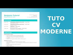 comment faire un cv moderne facilement