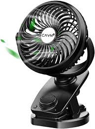 cavn 5000mah leise tischventilator clip fan mini usb