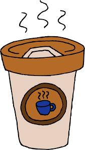 Hot Cafe Latte Clip Art Drawing Cute