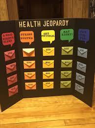 Health Jeopardy Board Game