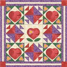 Blooming Hearts Quilt In My Color Me Series Of Quilters Coloring Book Pages