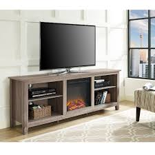 Whalen Computer Desk At Sams Club by Walker Edison Wood Tv Stand With Fireplace For Tvs Up To 70