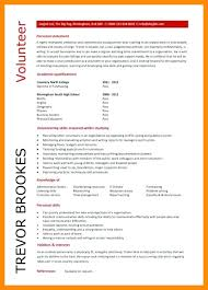 Ideas Of Resume Misc Volunteer On Sample For A Position Rural
