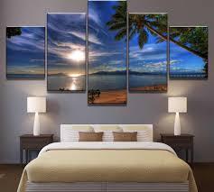 dekoration sunset landscape painting wall home