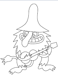 Troll With Guitar Coloring Pages