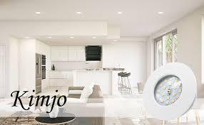 led einbaustrahler 5w neutralweiß 4500k kimjo ultra flach 25mm led badeinbaustrahler 500lm rund weiß ip44 für badezimmer wohnzimmer küche spot leuchte