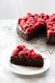 Triple Chocolate Wacky Cake recipe with Chocolate Stuffed Raspberries Allergy Friendly