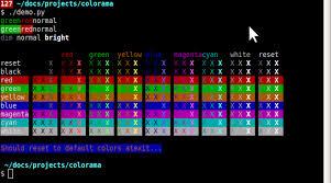 Colorama Simple Cross Platform Python API For Colored Terminal