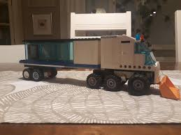 100 Lego Semi Truck Made A Tesla Semitruck Out Of Legos With A Plow On The Front