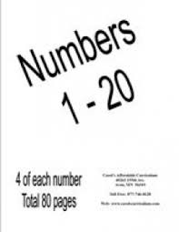Numbers Coloring Packet 1 20 Vol 2