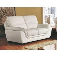 canapé cuir blanc 2 places canapé cuir 2 places kalmia la maison du canapé pas cher à prix auchan