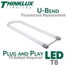 u bent led t8 light and play ballast compatible