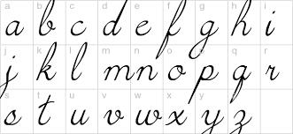 Lower Case Cursive Letters Letters Font