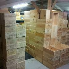 12 BOTTLE LARGE FRENCH WOODEN WINE CRATE BOX PLANTER HAMPER STORAGE