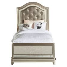 Diva Upholstered Twin Bed Pink by Lil U0027 Diva Champagne Twin Bed Rc Willey Furniture Store