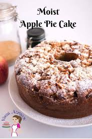 The BEST Moist Apple Pie Cake with Crumble Topping Veena Azmanov