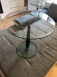 glastisch rund beistelltisch rund glastisch höhenverstellbar