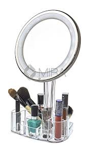 daisi 7x magnifying lighted makeup mirror powerful led lights