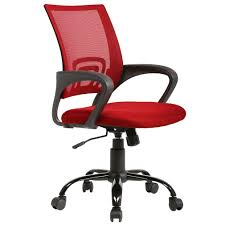 Ergonomic Office Chair Cheap Desk Chair Mesh Computer Chair Back Support  Modern Executive Rolling Swivel Chair For Back Pain, Red