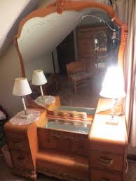 Vintage Vanity Dresser Set by 1930 Furniture Styles Have An Art Deco Waterfall Style Bedroom