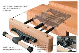 Wooden Bench Vise Plans by How To Build A Diy Workbench Dowelmax