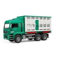 Bruder Toys Man Tga Cattle Transportation Truck With 1 Cattle - 1/16 ...