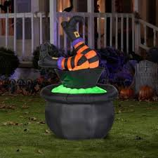 Gemmy Halloween Inflatables 2015 by Halloween Inflatable 4 7 U2032 Animated Witch Legs In Cauldron By Gemmy