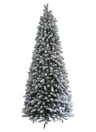 Unlit Artificial Christmas Trees Made In Usa by 9 Foot King Flock Slim Artificial Christmas Tree Unlit King Of