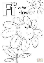 Click The Letter F Is For Flower Coloring Pages
