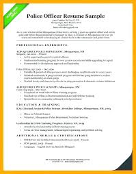 Military Police Officer Resume Sample Template Law Enforce