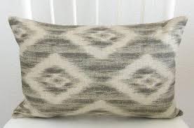 ikat blue decorative pillow cover