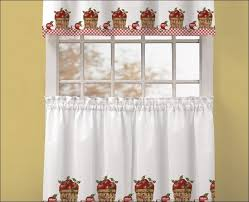kitchen kitchen drapes yellow floral curtains 30 inch tier