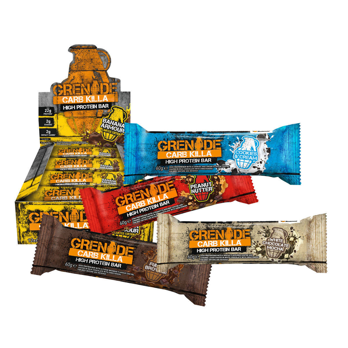 Grenade Carb Killa High Protein Bar Selection Box - 12ct, 60g