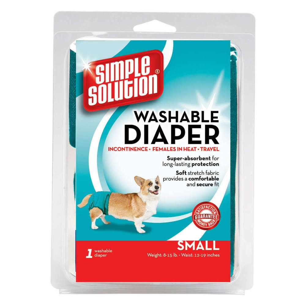 Simple Solution Dog Diaper Garment - Teal, Small