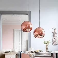 glas sphärische hängele moderne pendelleuchte hängeleuchte galvanisieren lenschirm e27 led le kupfer spiegel kronleuchter für