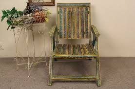 100 Folding Chair Art SOLD Hand Painted Traditional Folk From Sicily