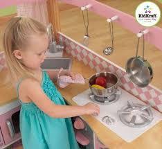 Kidkraft Grand Gourmet Corner Kitchen Play Set by Kidkraft 53185 Grand Gourmet Deluxe Kids Corner Kitchen Pretend