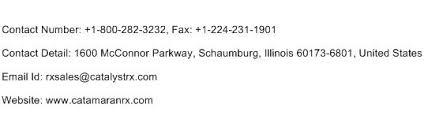 catamaran rx 1800 customer service phone number toll free number