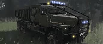 100 Phantom Truck SpinTires Mudrunner KrAZ255B V020418