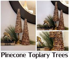 Pine Cone Christmas Tree Tutorial by Pinecone Topiary Trees Featuring Michelle From Sweet Something