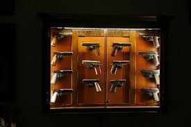 the woodloft illinois amish custom crafted pistol display