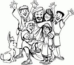 Jesus With Children Coloring Page Stunning Loves The