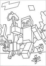 A Minecraft World Coloring Page