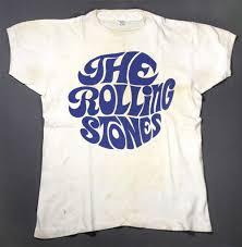 Vintage Rolling Stones Fan Club T Shirt Circa 1967